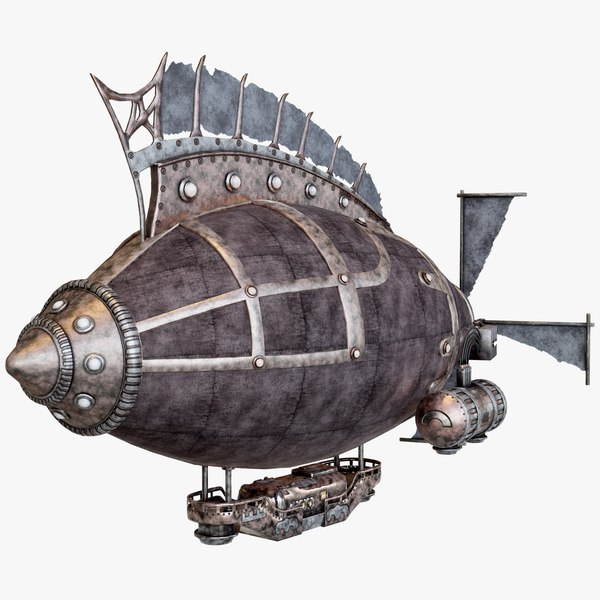 3d model steampunk airship