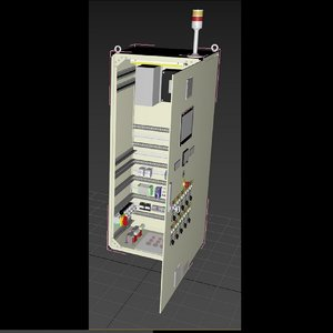 synchronizing panel switch gear 3D model