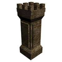 medieval tower 2 3D model