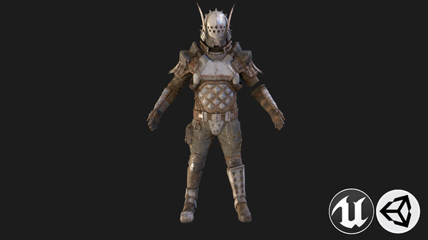 man warrior armor 3D model