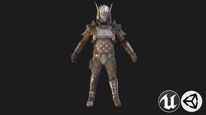 man warrior armor 3D model