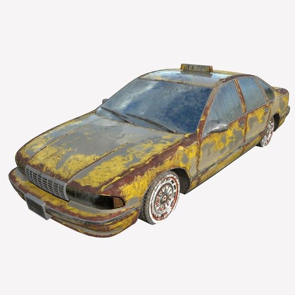 3D car abandoned model