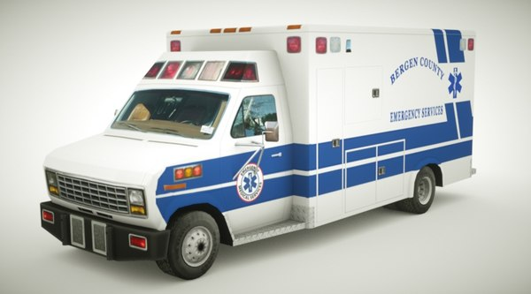 generic ambulance v11 3D model