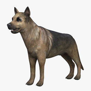 3d german shepherd model