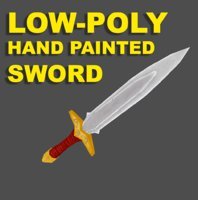3D model sword paint fantasy