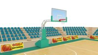 3D basketball open court model