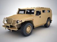 3D model russian vehicle gaz 2330