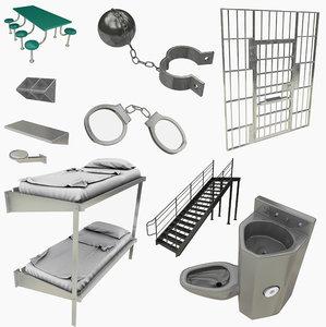 3D prison equipment model