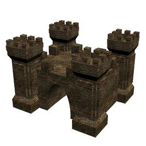3D medieval gate 1 model