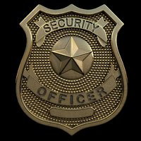 3D security officer badge model