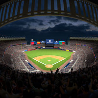 baseball stadium audience animation 3D model