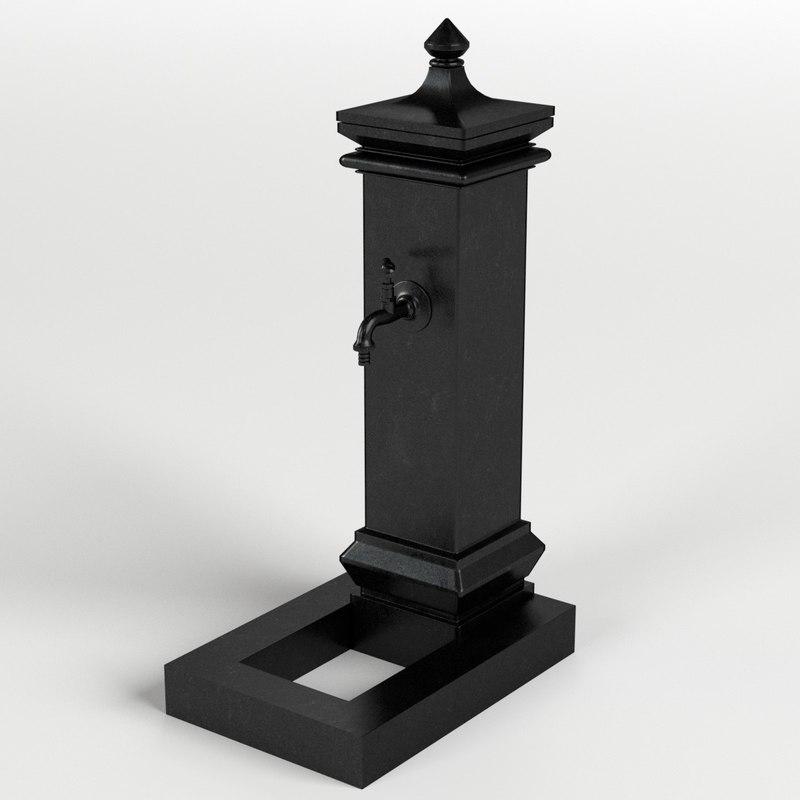 cast iron fountain 3D model