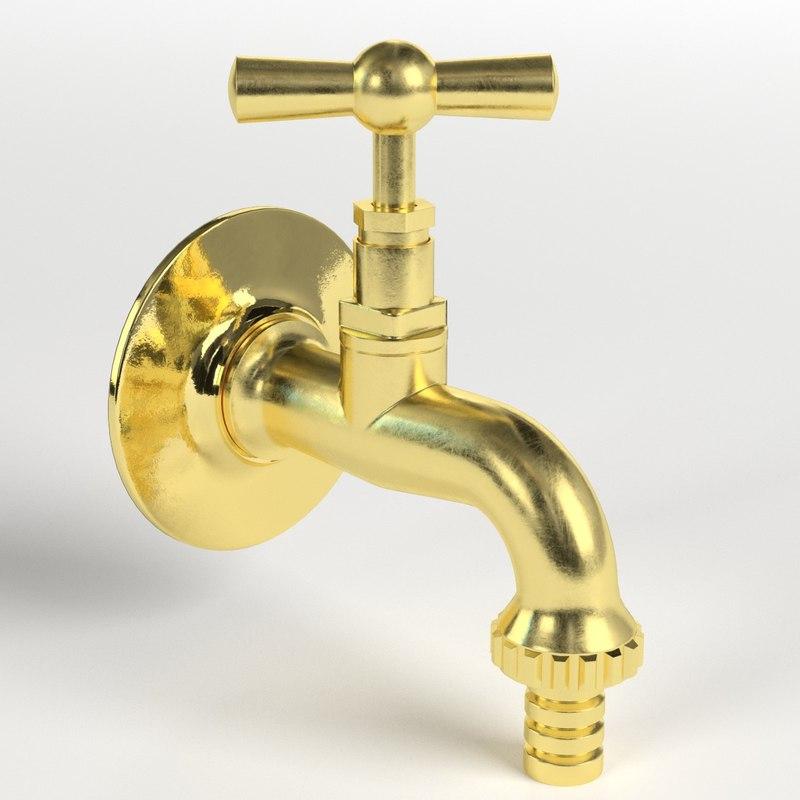 fountain faucet 3D model