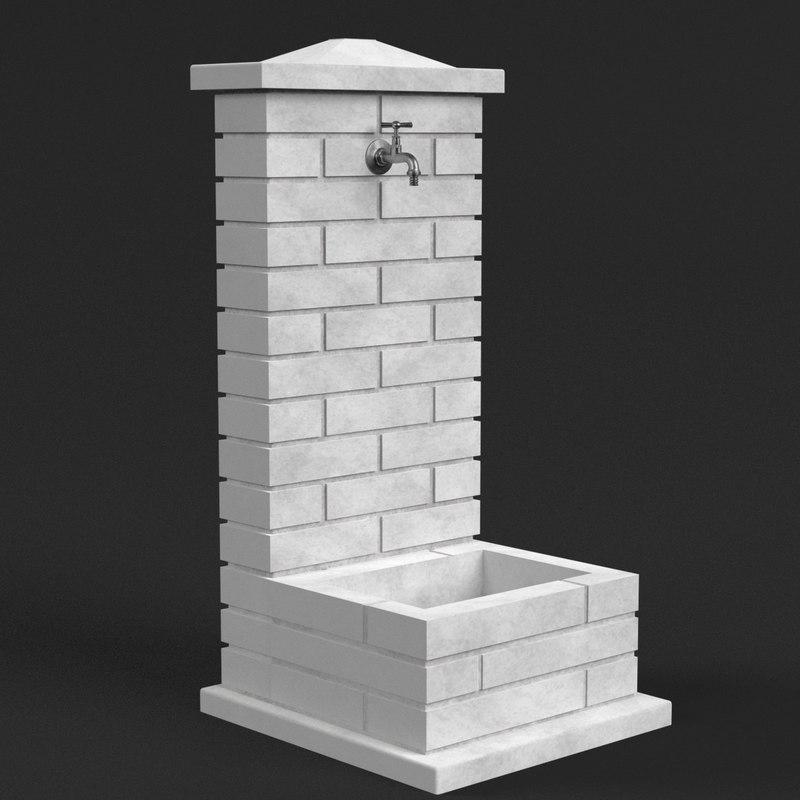 garden fountain model