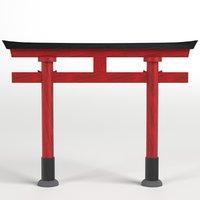 3D japanese torii gate