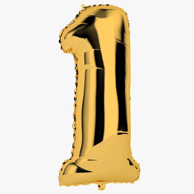 foil balloon digit model