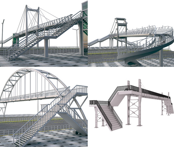 predestrian bridge 1 3D