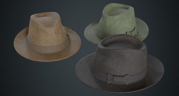 fedora hat 2b model