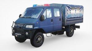armored police fiat smt55 3D model