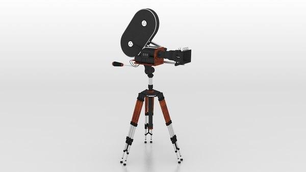 vintage film camera 3D model