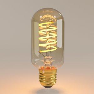 3D decorative edison bulb spiral