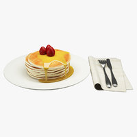 3D breakfast food