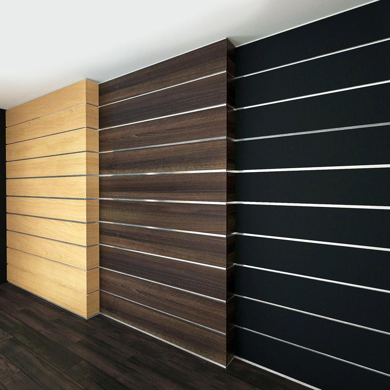 wall panel set 7 3D model