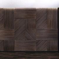 3D wall panel set 3 model
