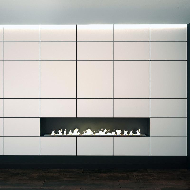 wall panel set 10 3D model