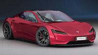 3D model tesla roadster 2020