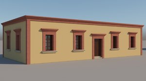 3D mexican house 3 model