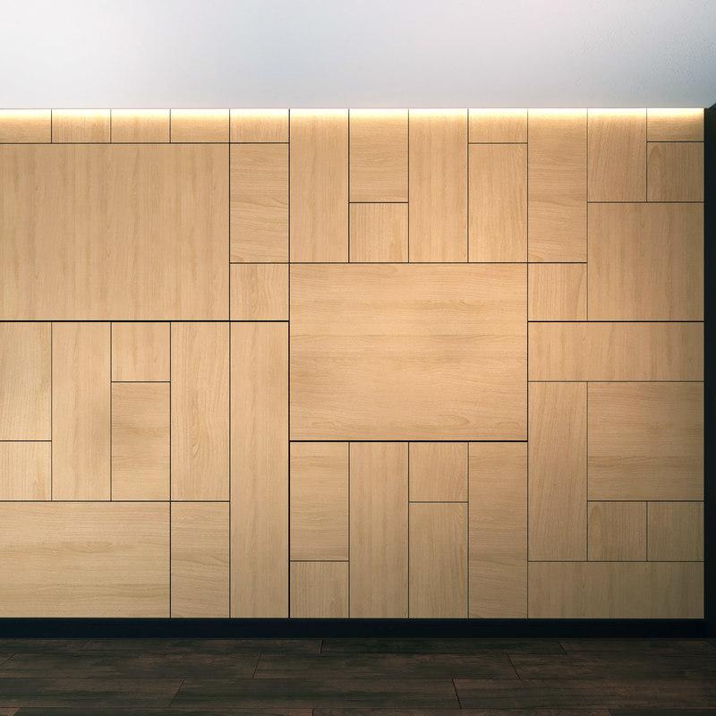 3D model wall panel set 12