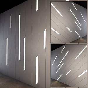 wall panel set 14 3D model