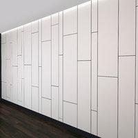 wall panel set 11 3D