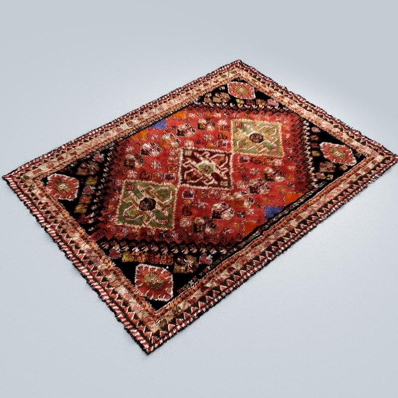 3D carpet styles original vector model
