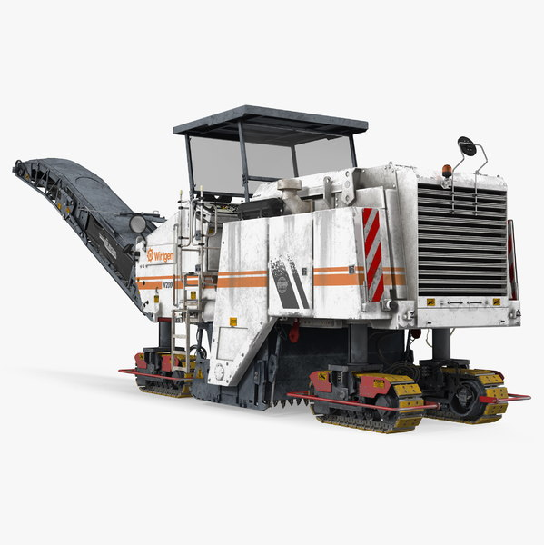 3D asphalt milling wirtgen machine model