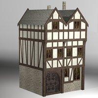 medieval fantasy house model