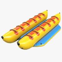 3D model banana boat attraction