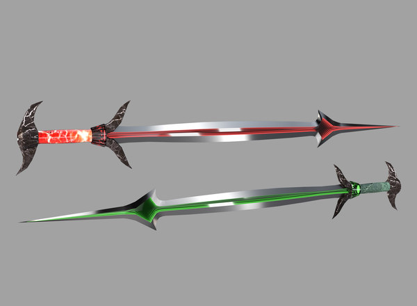 twin swords 3D model
