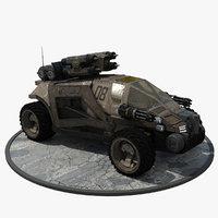 futuristic armored personal model