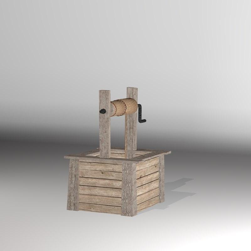 3D open bucket props