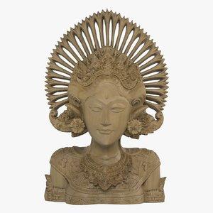 scanned bali statue 3d fbx