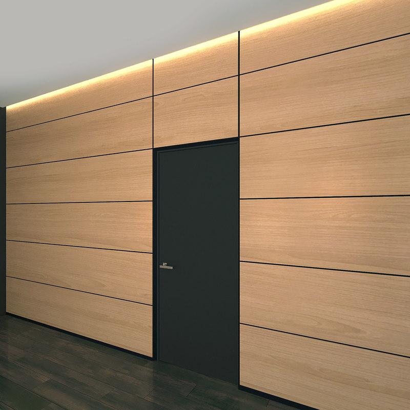 wall panel set 19 3D model
