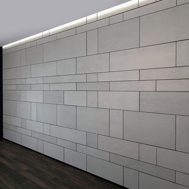 3D wall panel set 16