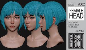 anime head 3D model