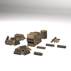 chopped wood 3D model