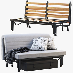 3D ikea lycksele sofa-bed frame