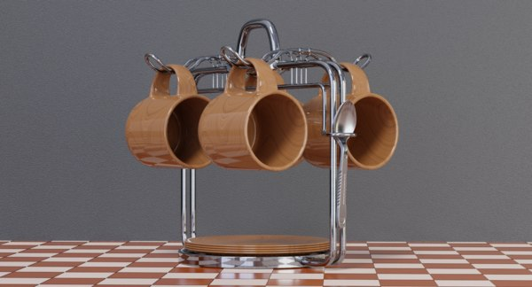 coffee set 3D
