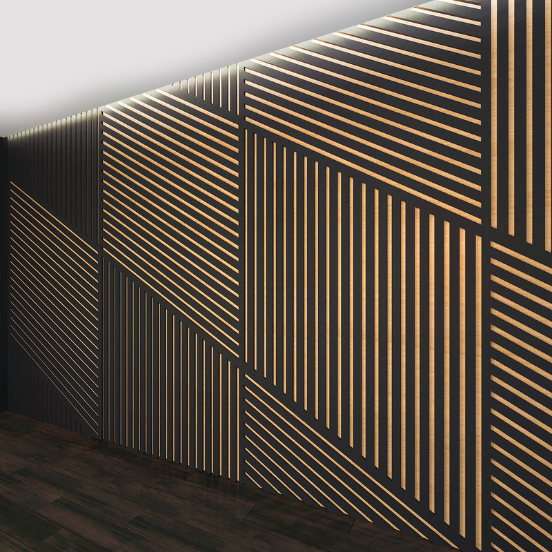 wall panel set 23 3D