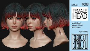 anime head model